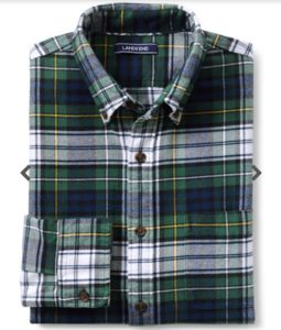 Lands End mens flannel shirts - available in many colors
