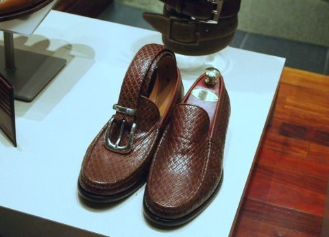 mens exotic brown leather shoes & belts