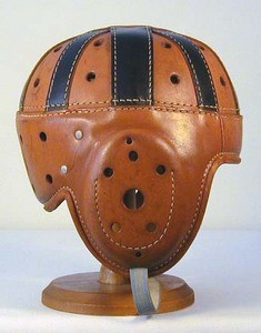 spalding leather football helmet - photo from fftwelve.com