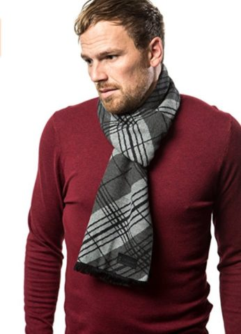 This is an example of a cashmere mens scarf.